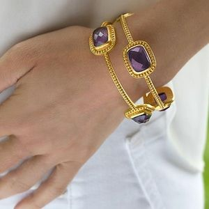NWT Authentic Julie Vos amethyst Luxor Bangle